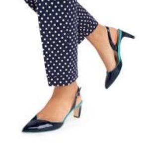 Boden Navy Patent Millie slingback heels 40 $248